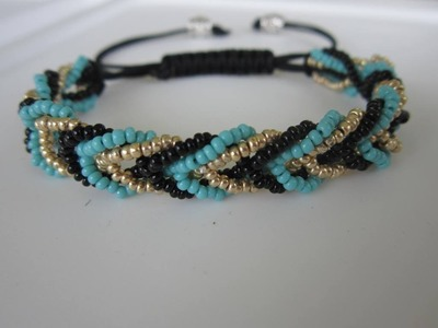 Shamballa Bracelet with 3 colors Seed Bead  . Шамбала Браслет  из Бисера.