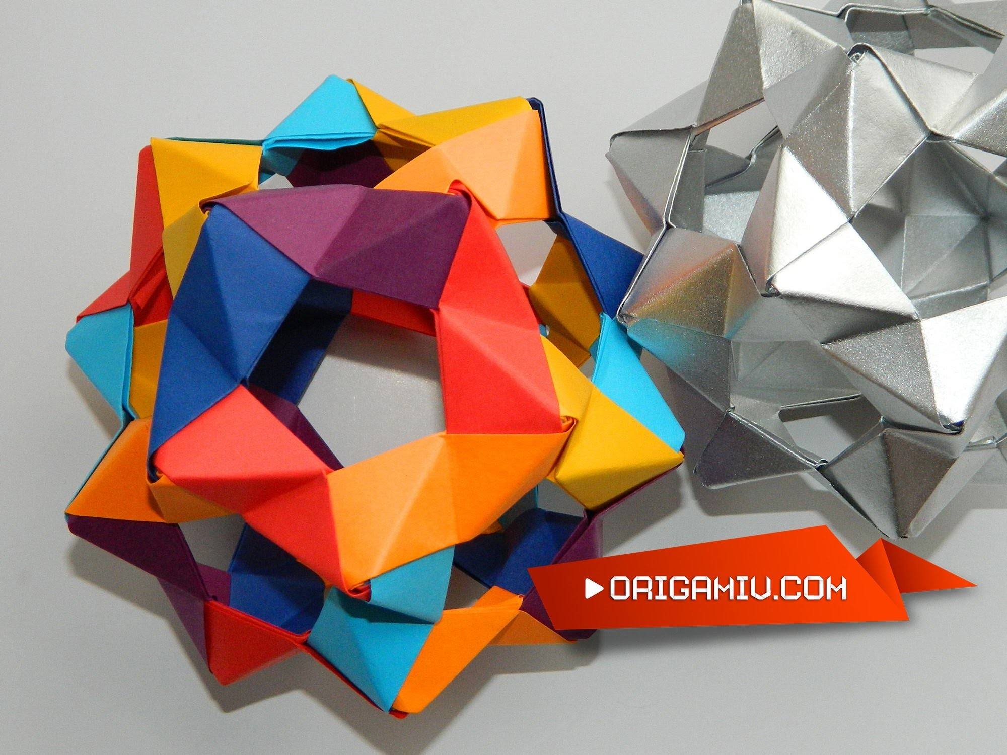 How to make a Сolor Star Holes Kusudama Origami (PHiZZ Unit Tom Hull)