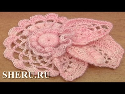 How to Crochet Floral Scrumble Урок 4 часть 2 из 2 Цветочный мотив в технике фриформ