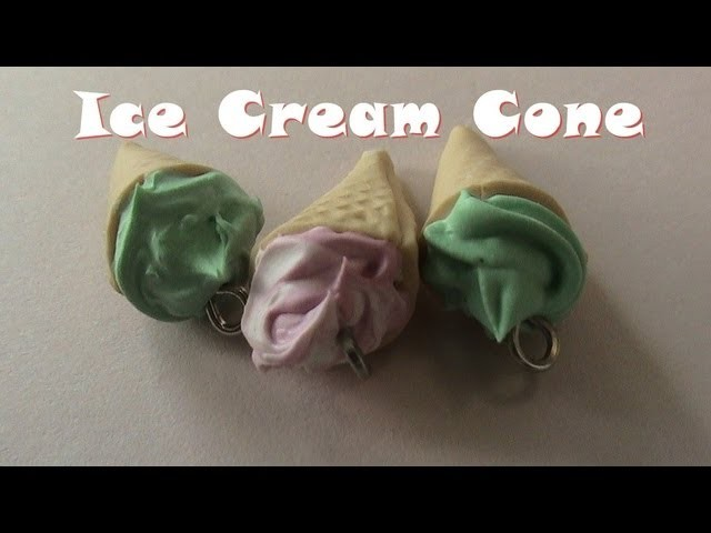 Polymer Clay Ice Cream Cone tutorial