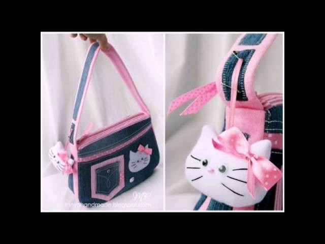 "Как сшить сумку ""Hello kitty"".How to sew a bag ""Hello kitty"""