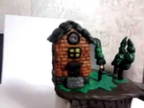 Polymer clay House. Полимерная глина, домище)