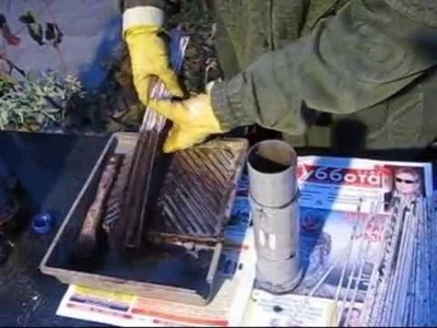 ▬► Как красить газетные трубочки.  How to paint the tube's from newspapers