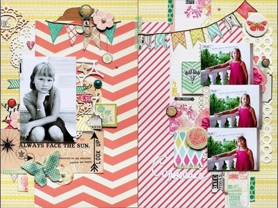 Scrapbooking Layout in American Style
