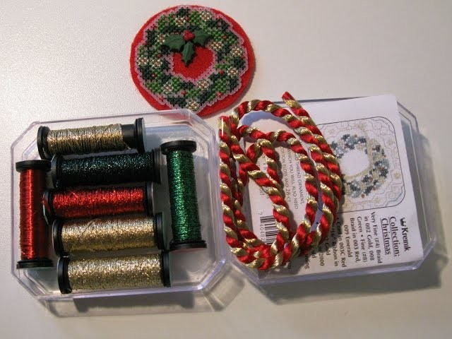 Обзор набора Kreinik Collection #2 CHRISTMAS
