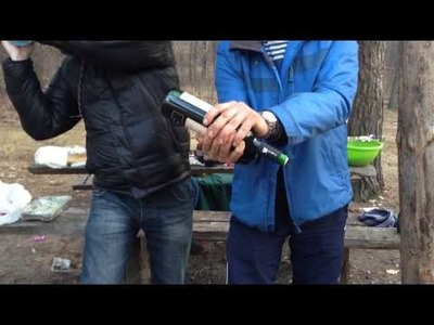 How to open a wine mineral water (Как открыть вино минералкой)