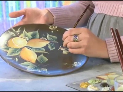 One Stroke Painting. Lemons.