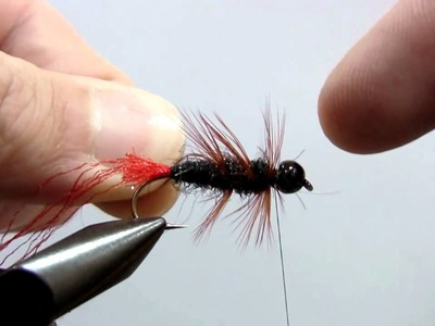 """Fly Tying Nymph """"Black Red Tag"""""""