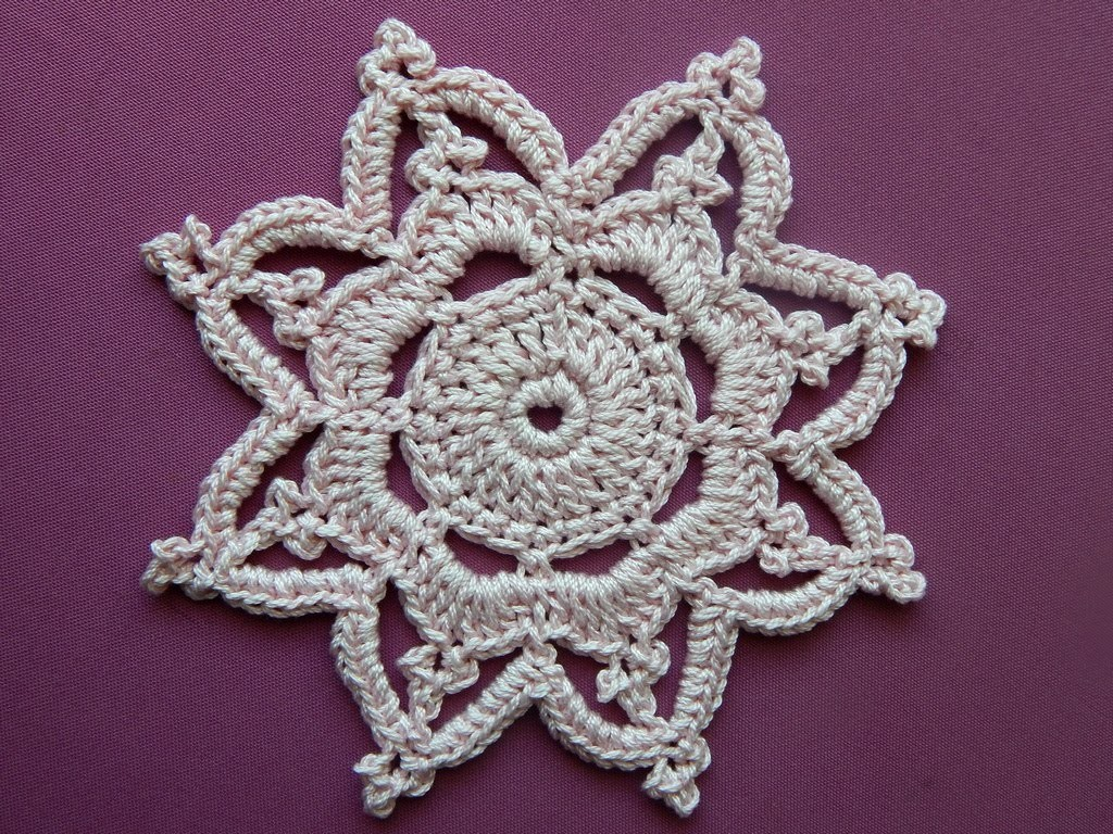 Crochet  motif. Tutorial.