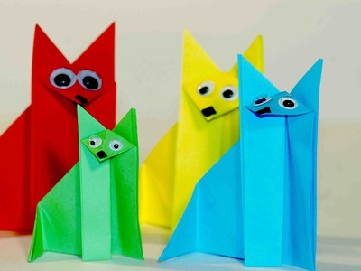 Еasy origami for kids. Оrigami Fox. Origami instructions for kids. Origami for kids step by step.