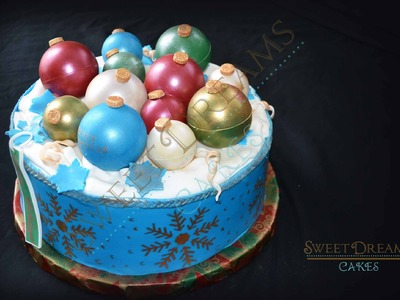 How I make chocolate Christmas ornaments to decorate cake.Ornament tutorial.