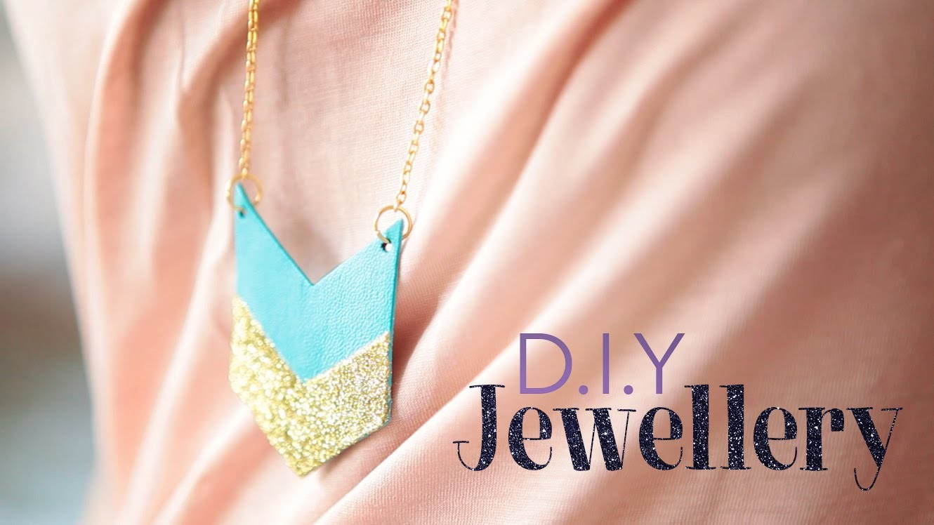 D.I.Y  Кулон из кожи. simple leather necklace