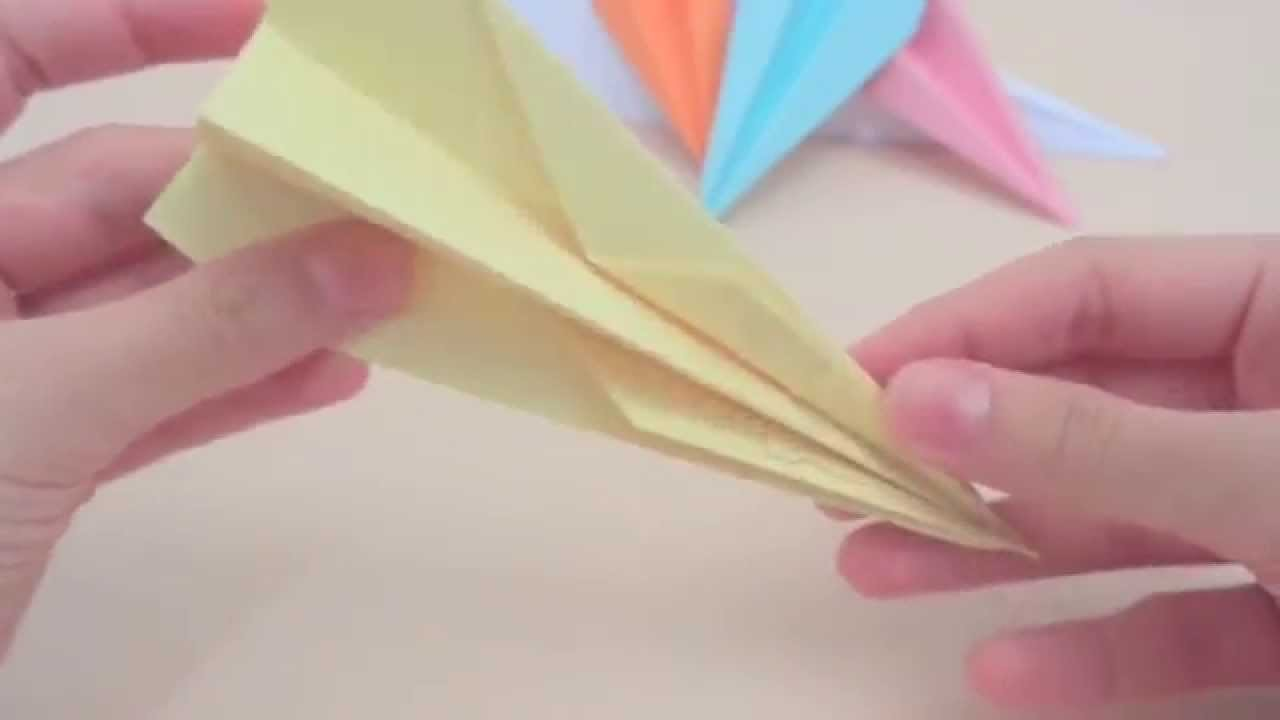 Mini colorful paper airplanes for kids