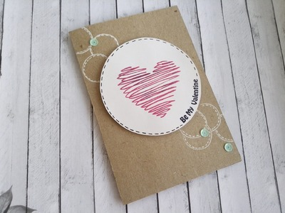 Clean and simple card with DIY stencil.КАС открытка и домашний трафарет