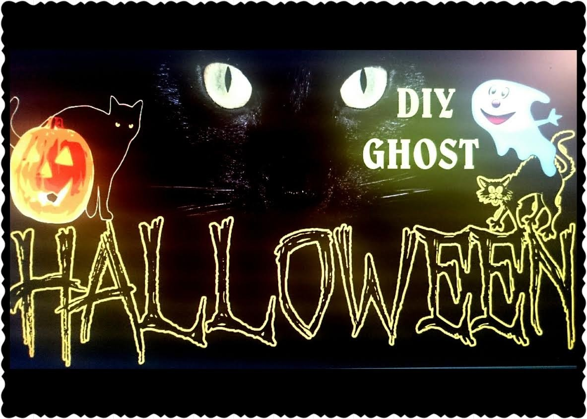 DIY Halloween GHOST|Halloween ideas|Blogger HelenLin