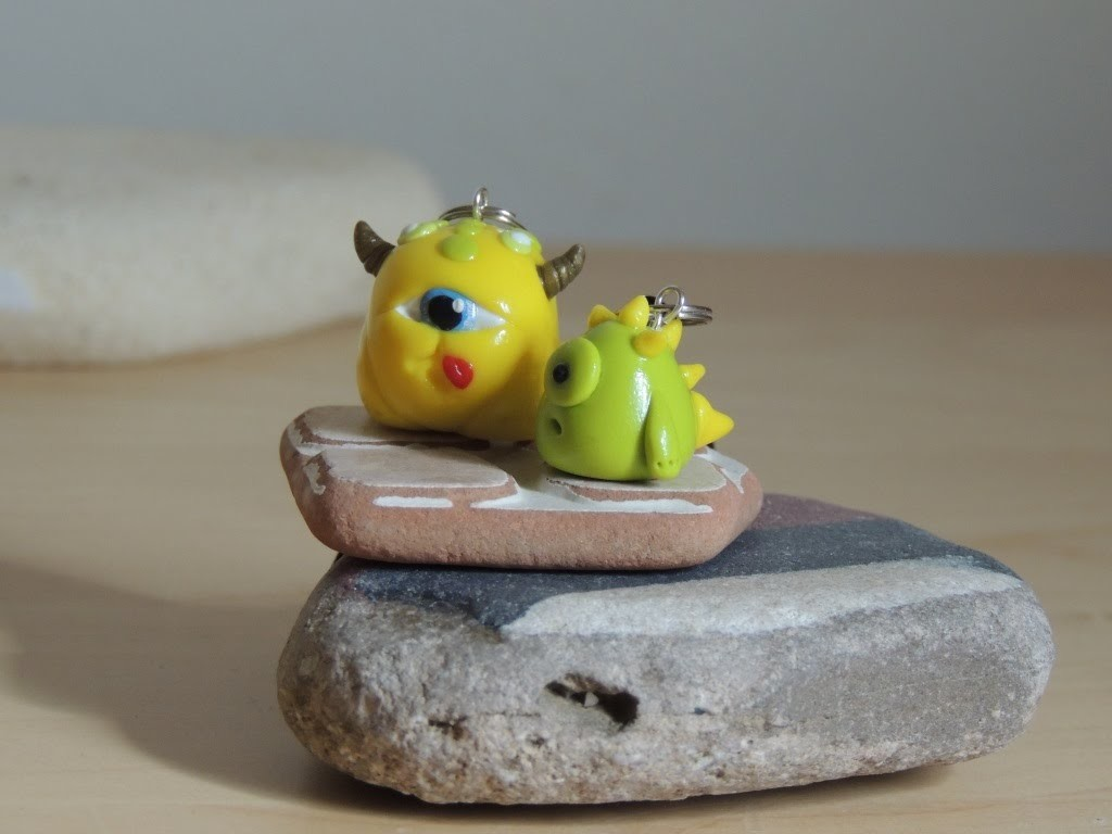Несколько моих работ. Some of my works are made of polymer clay