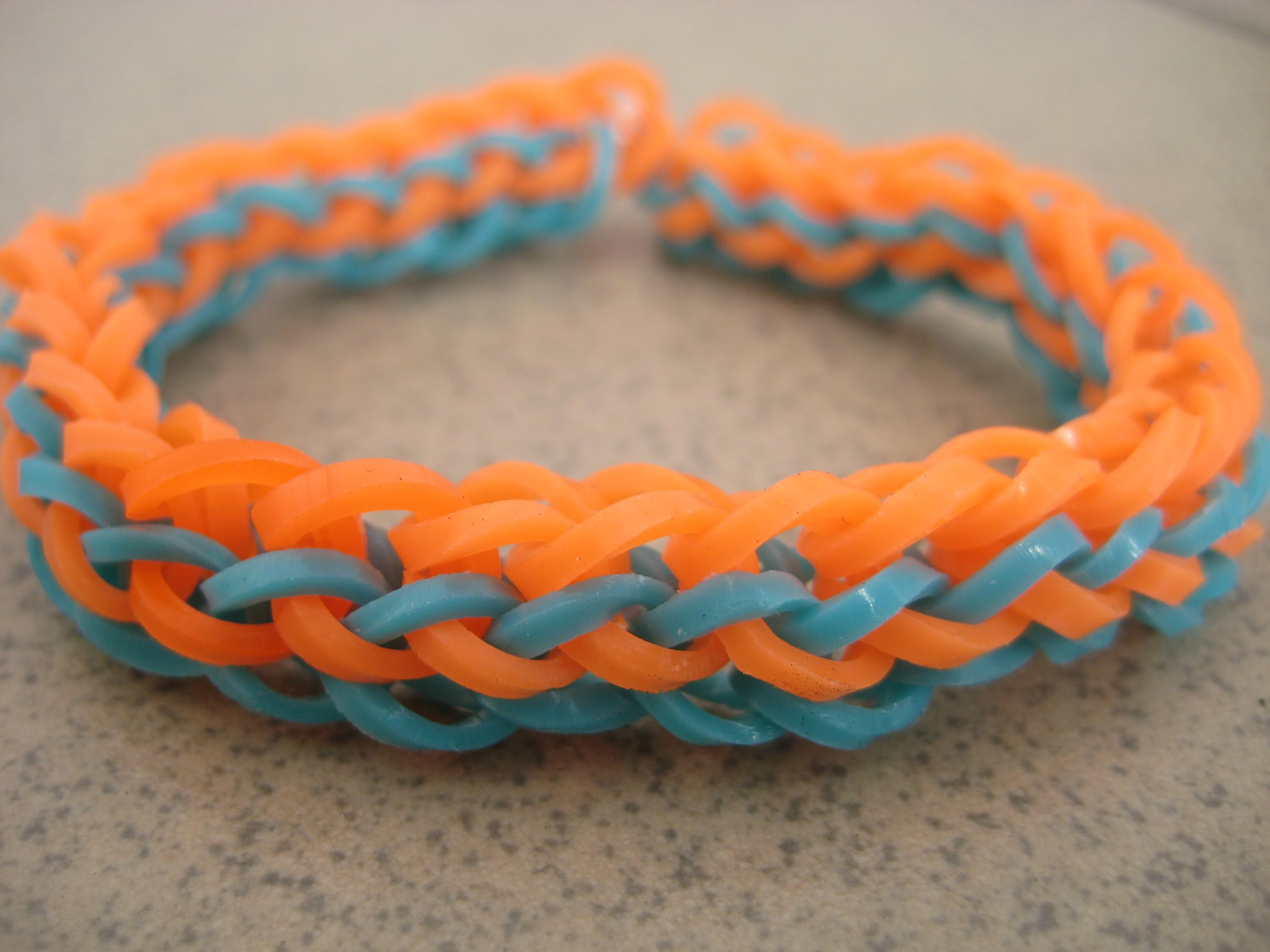French Braid Rainbow Loom Monster Tail Bracelet Tutorial_