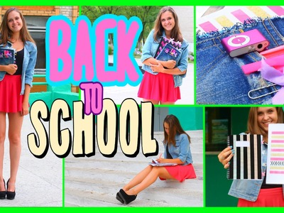 BACK TO SCHOOL♥ DIY School Supplies+ Outfit 2015