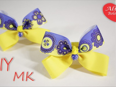 Мини Бантики в Детский Сад . МК из Лент. Mini Bows to kindergarten
