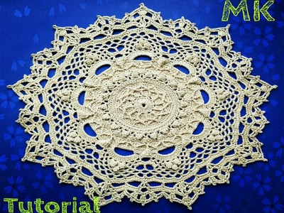 """МК салфетка """"Эмили"""" 22-23 ряды How to crochet doily """"Emily""""22-23 rows"""