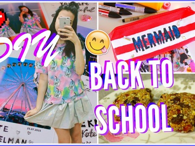 BACK TO SCHOOL♥ | DIY school supplies & snacks♥