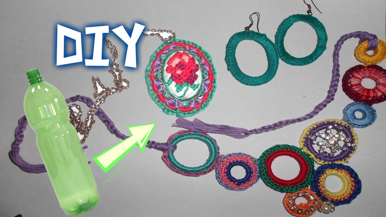DIY Accessories  Out Of A Recycled Plastic Bottle. Аксессуары из пластиковой бутылки