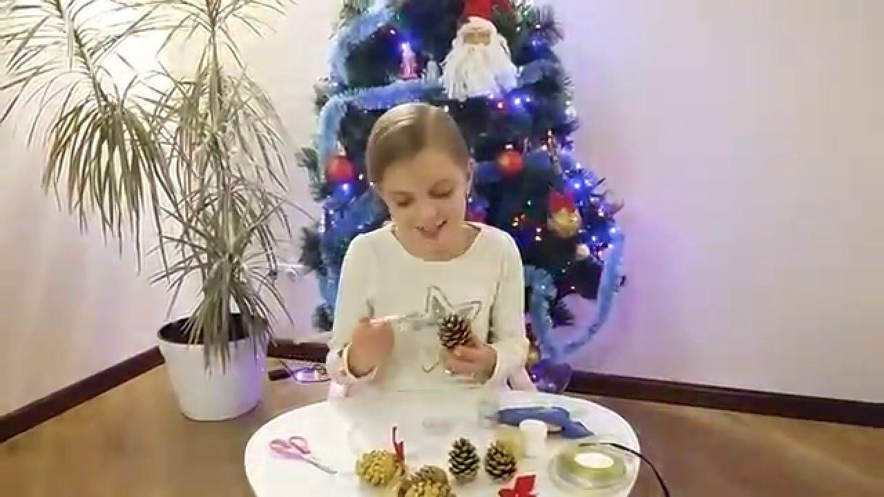 Елочная игрушка своими руками мастер класс -  DIY Christmas Toy own hands master class