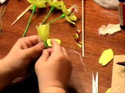 """Amazing Sweet bouquet """"Orchid"""". Do flower. Handmade gift. To do with their hands."""