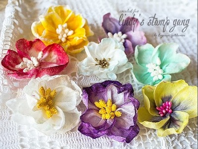 Handmade Flowers Tutorial for Lindy's Stamp Gang