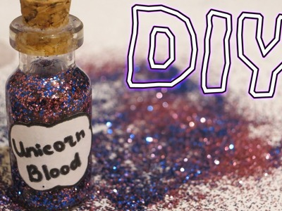 DIY: UNICORN'S BLOOD necklace