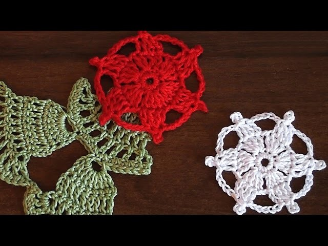 Сrocheted motif  Christmas star  Very easy  Step by step  Tutorial