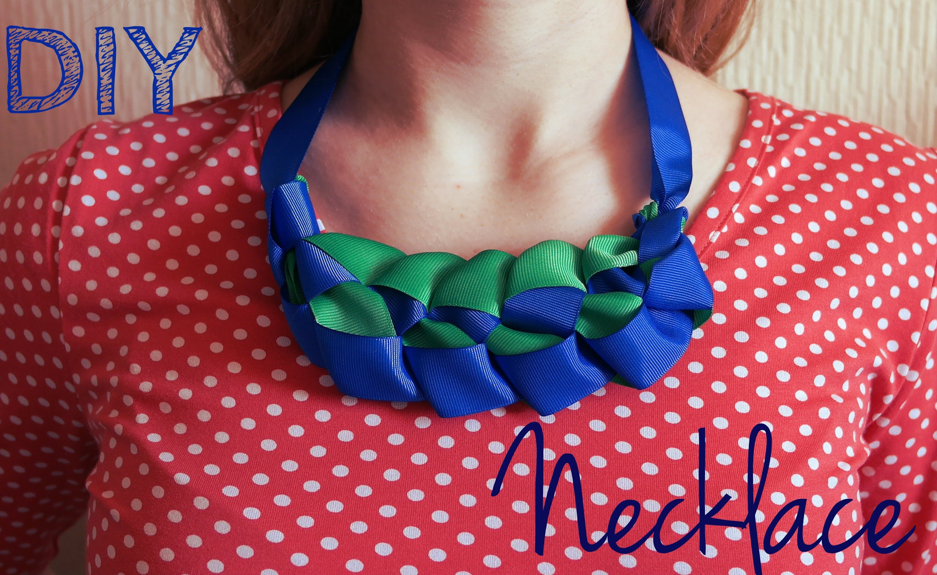 Ожерелье своими руками DIY necklace of ribbons