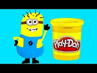 Play Doh Minions How to Make a Minion DIY Миньоны пластилин 最好的爪牙 Toy Videos