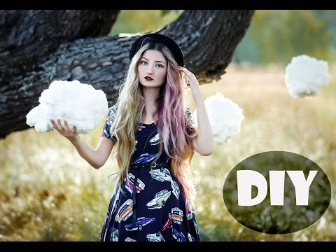 DIY. How to make clouds mobile. Cotton Cloud. Как сделать облака из ваты.