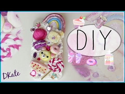 ♥DIY*^_^*CREAM IPHONE CASE.SWEETS♥