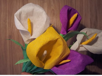 Цветы из бумаги .Калла.How To make paper flowers : Calla Lily
