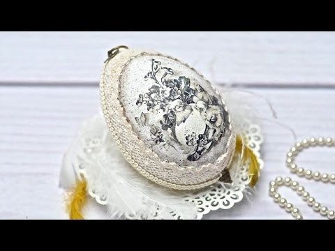 Easter egg   with rice paper ---- DIY  By Catherine :)