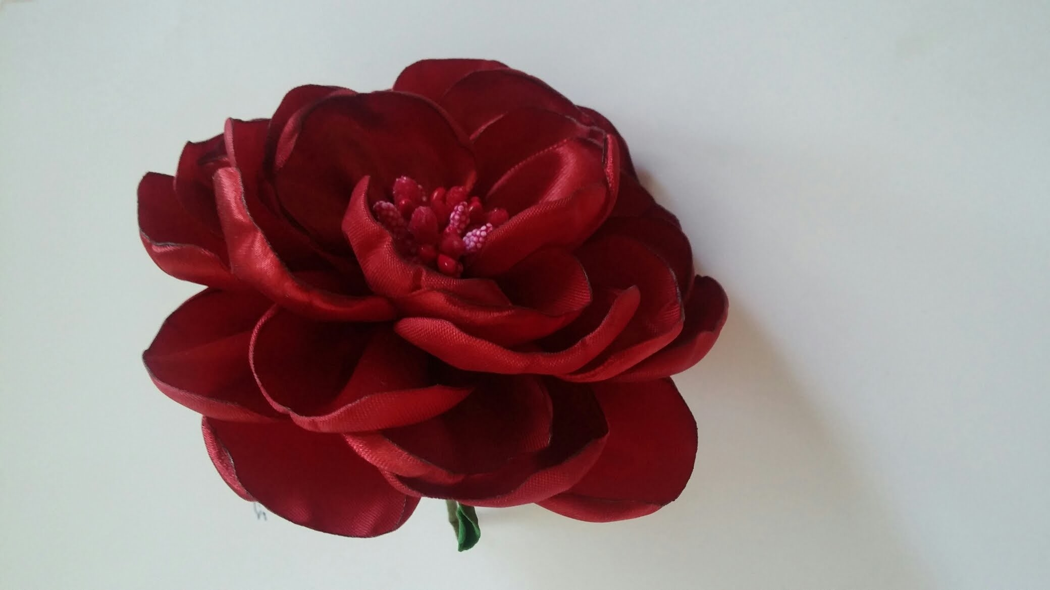 Мастер класс: пышная роза из лент.How to make a rose out of satin ribbons.handmade fabric flowers
