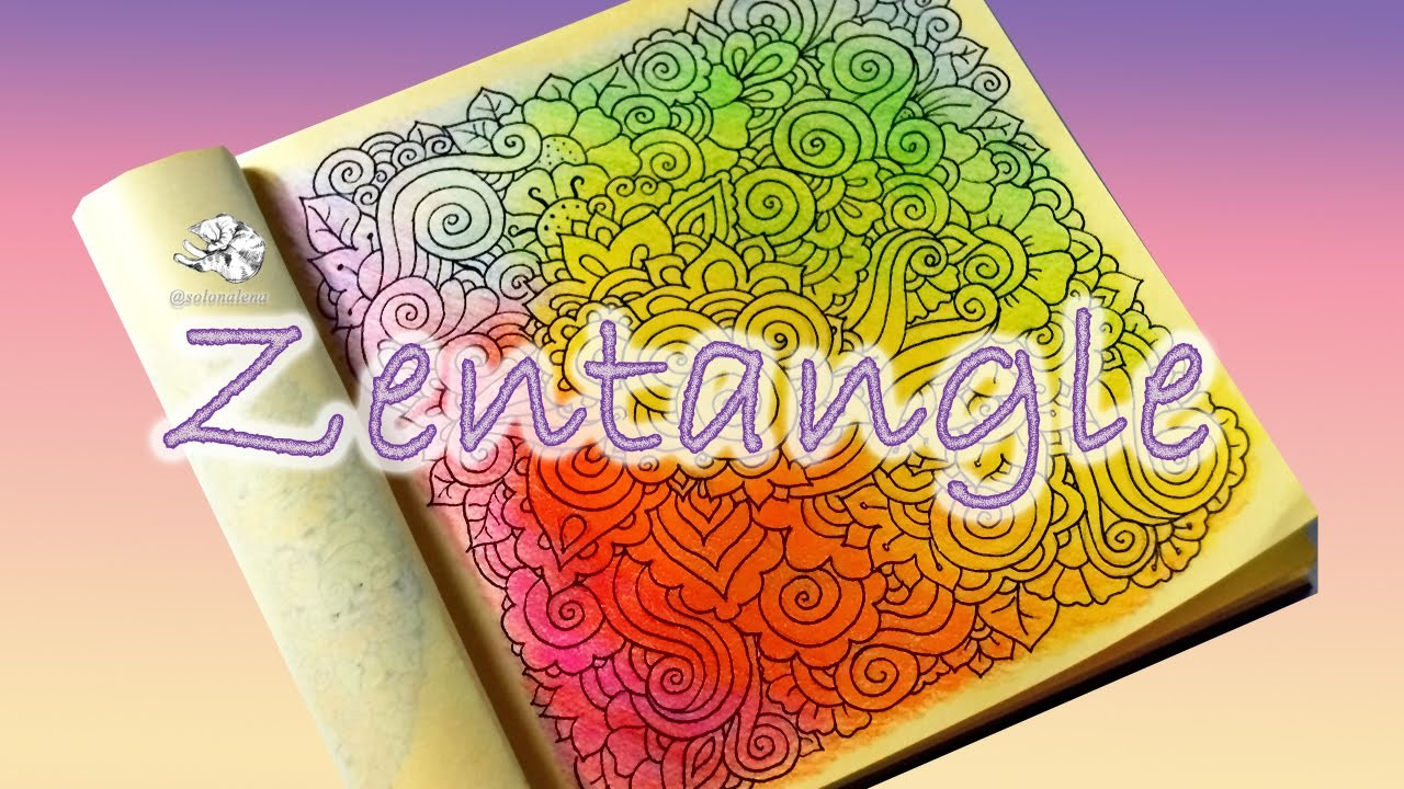How to draw Abstract Doodle Pattern | Zentangle | Зентангл & Дудлинг