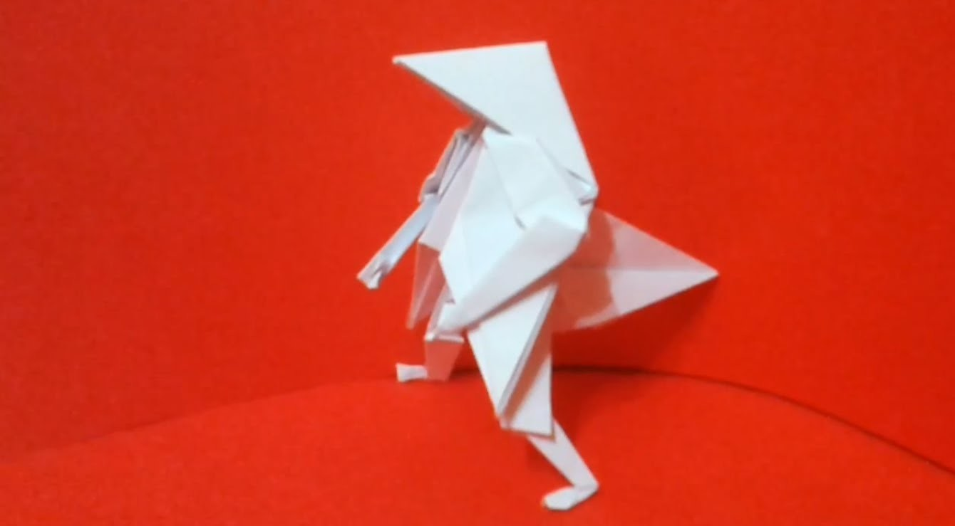 How to make a paper Pajaritaman Origami. Как сделать Pajaritaman из Бумаги Оригами