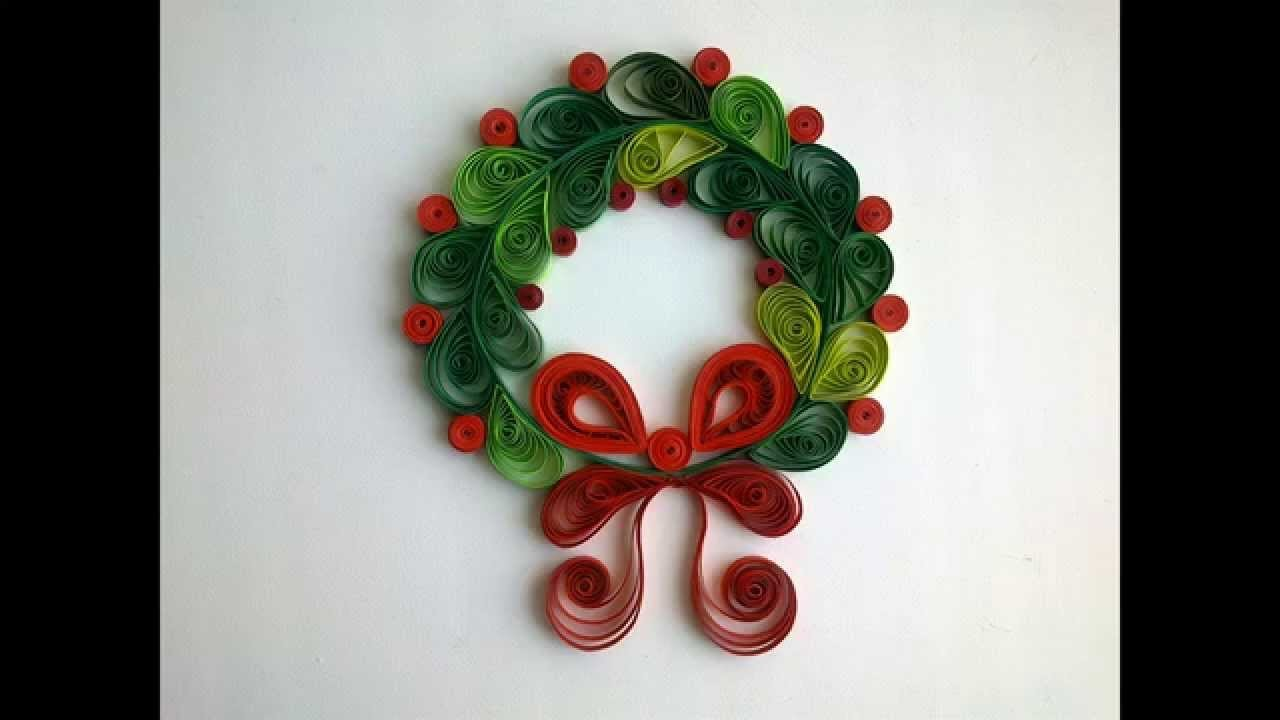 Paper Quilling: Make Сhristmas quilling decorations.