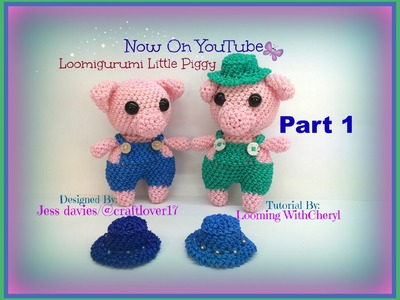 Rainbow Loom Little Piggy Part 1 of 3 ( Pig ) Loomigurumi. Amigurumi Hook Only свинья Лумигуруми