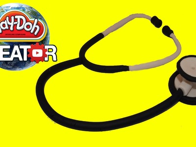 Playdoh Doctor Stethoscope DIY - Как сделать стетоскоп доктора из плейдо
