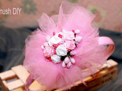 How to make Headband with Tulle Flower ❀ Haykanush DIY