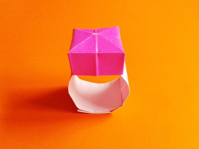 How to make origami ring