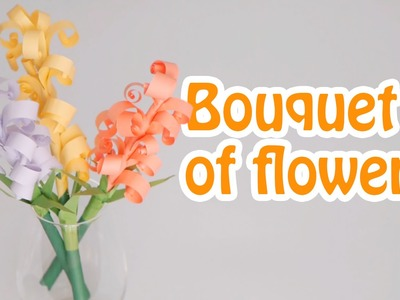 Diy paper crafts. How to make paper bouquet of flowers