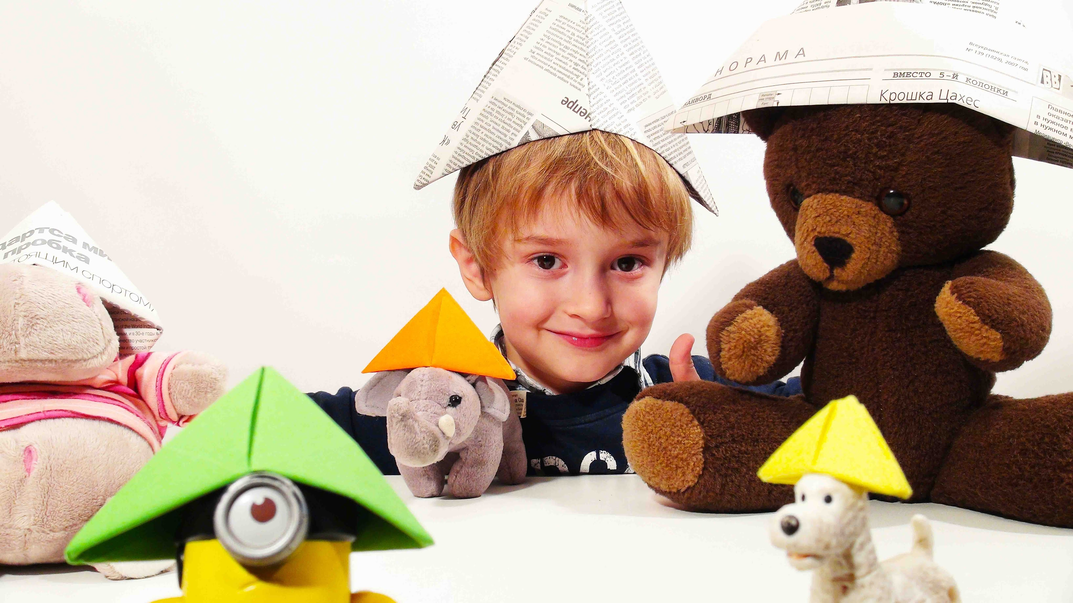 ORIGAMI CAP. Easy origami for kids. Craft for kids. Оrigami ideas for kids
