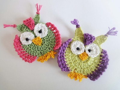"Аппликация ""СОВА""  Crochet OWL applique"