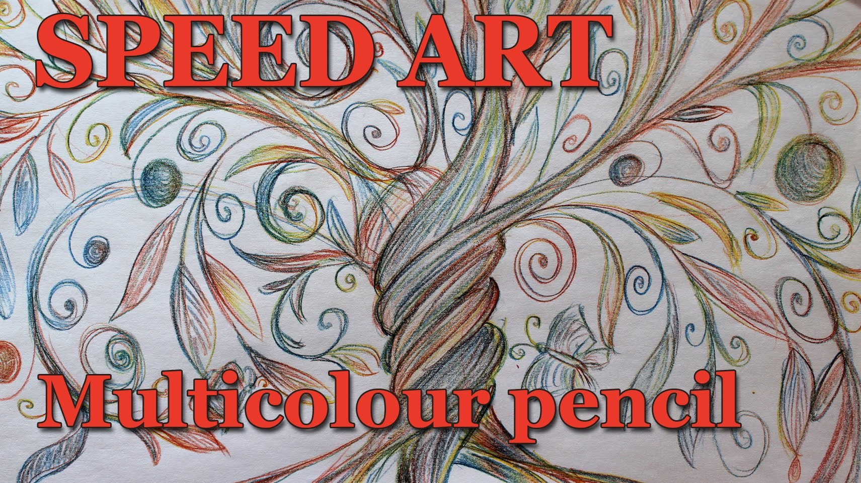 Tree of life -multicolour pencil - speed art, speed drawing, time lapse painting