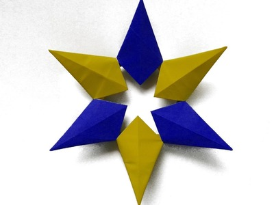 How to make a paper  Modular Star origami оригами модульная звезда